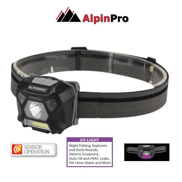 SensorPlusUV flashlight head light AlpinPro