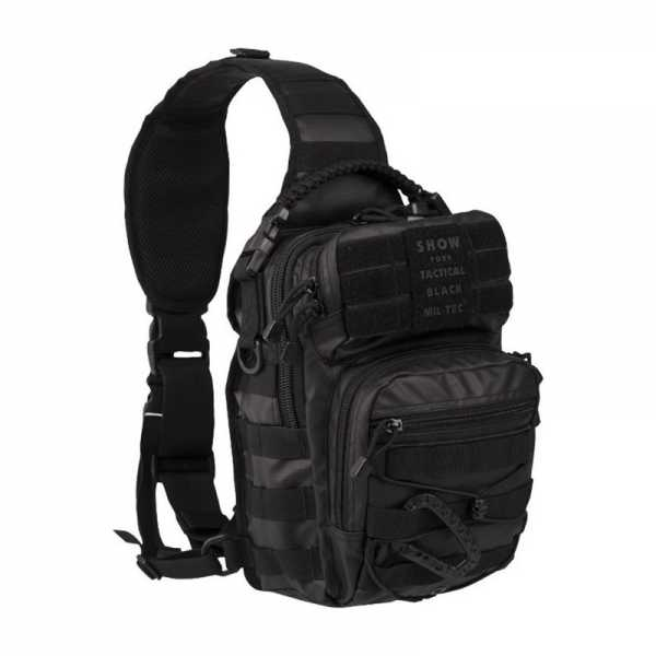 mil tec tactical one strap assault pack small black 10lt 1