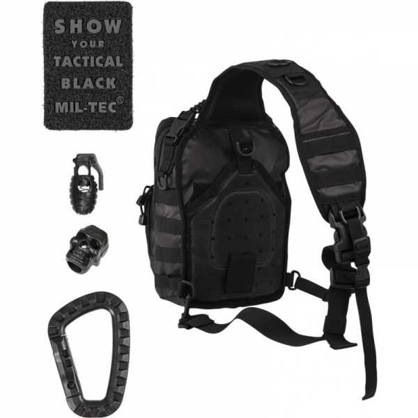 mil tec tactical one strap assault pack small black 10lt 2
