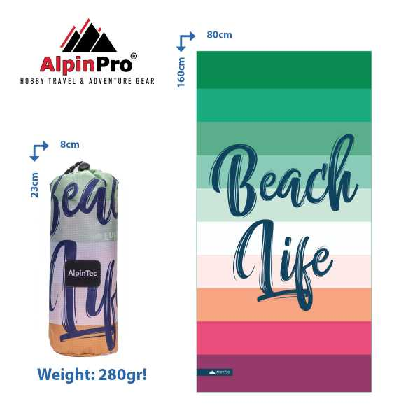 Alpintec BeachLife Towel 80x160 1