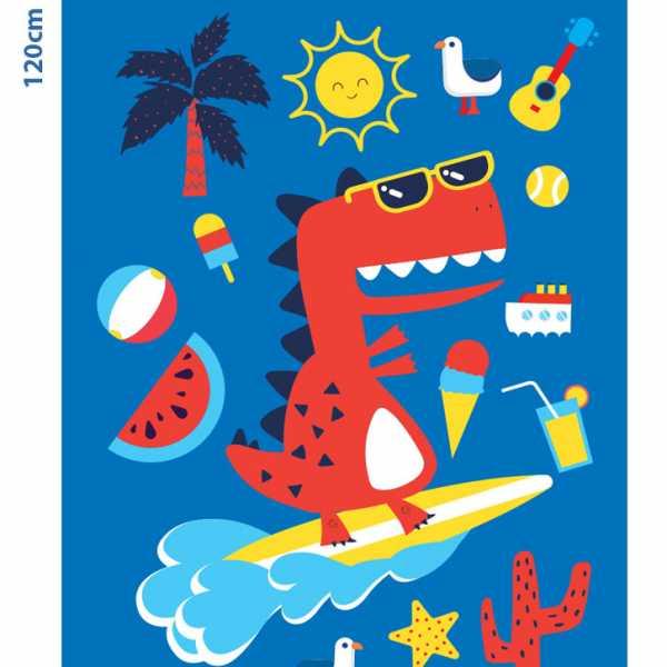 Alpintec Beach Towel Kids Dino 70x120