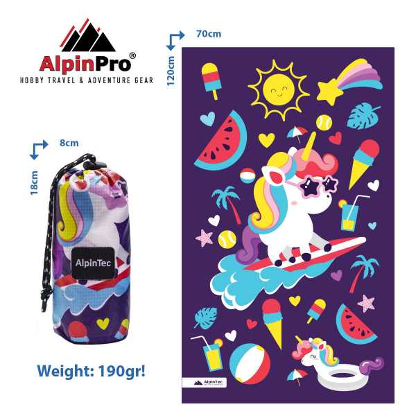 Alpintec Beach Towel Kids Unicor 70x120 1